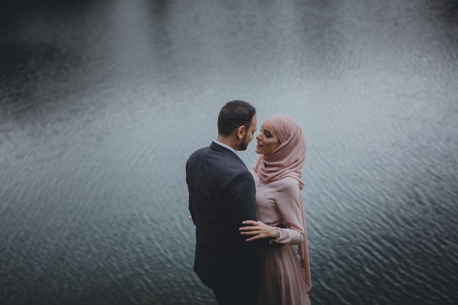 vatten,bröllopsfotograf,skåne,dalby,stenbrott,hijab