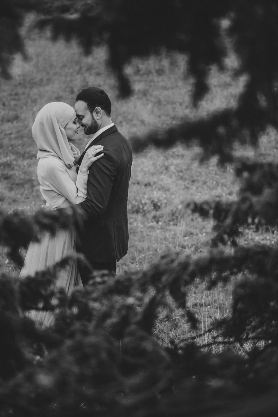 bw,bröllopsfotograf,skåne,muslimskt,hijab,hage