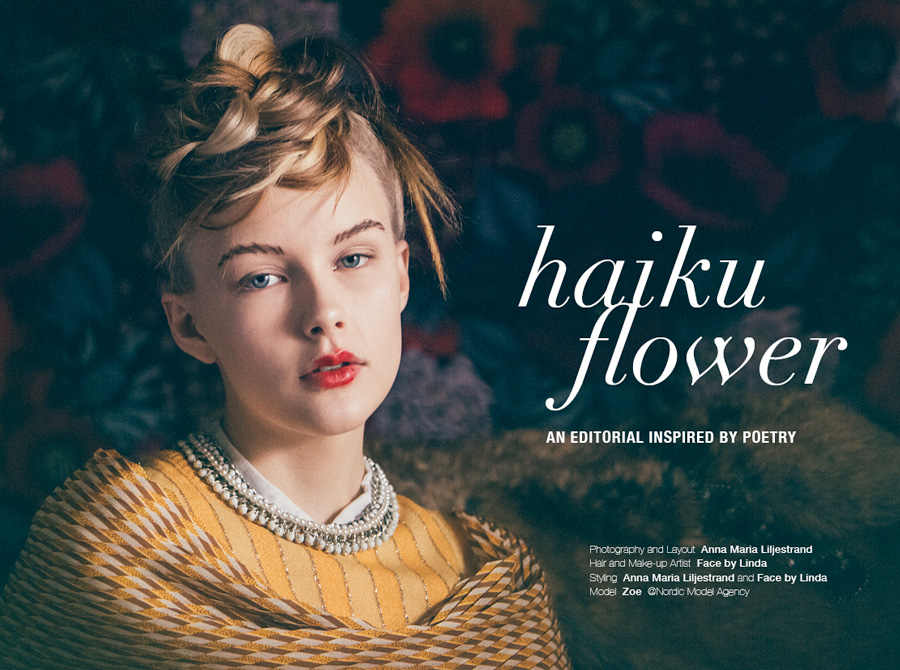 haiku,flower,editorial,malmö