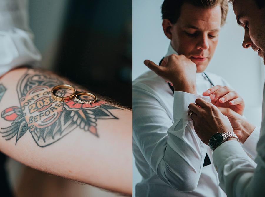 bröllopsringar,tatuering,förberedelse