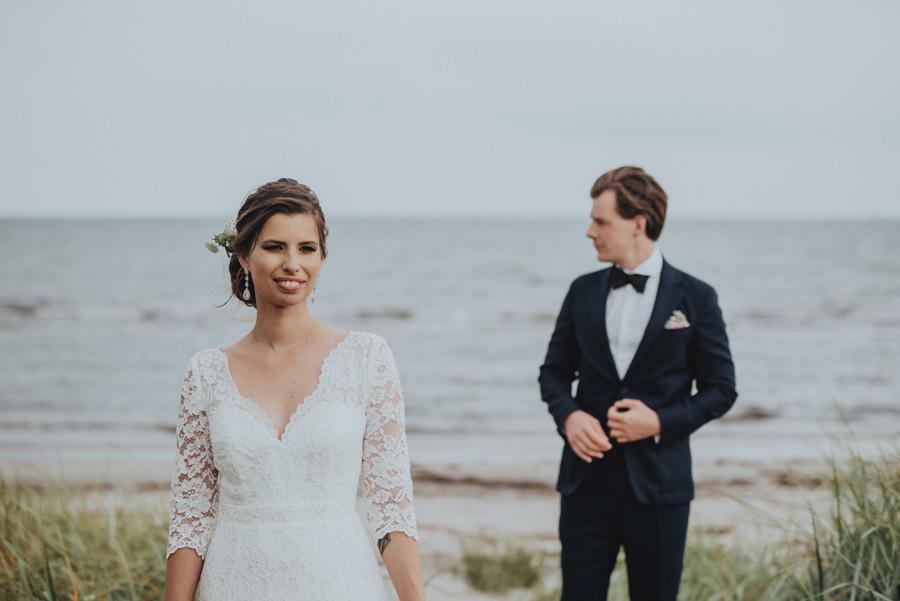 bröllopsporträtt,havet