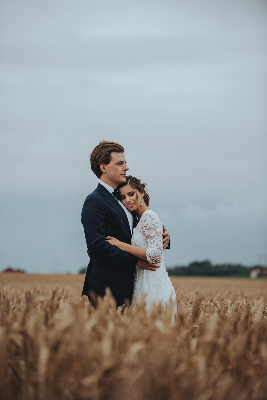 bröllopsporträtt,äng